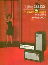 1966 Gibson GSS100 Amplifier - Promotional Advertising Poster - $9.99+