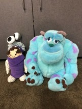 """Large Disney Store Plush Beautiful 13""""Boo and 18"""" Sulley Monsters Inc. f... - $44.25"""