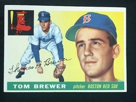 1955 Topps Baseball Card #83 TOM BREWER - Boston Red Sox - $6.88