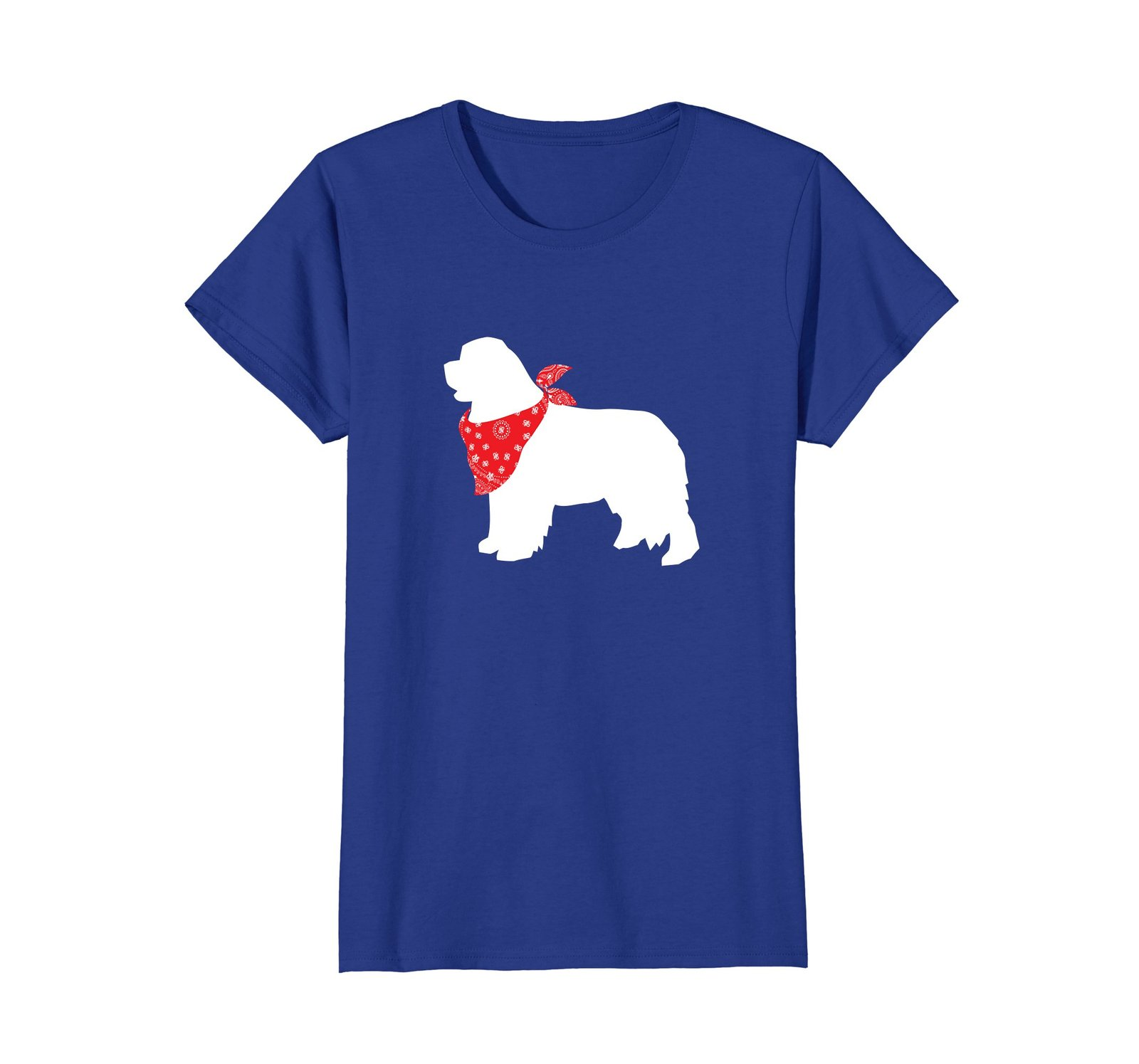 Newfoundland Wearing Red Bandana Dog Silhouette T-Shirt