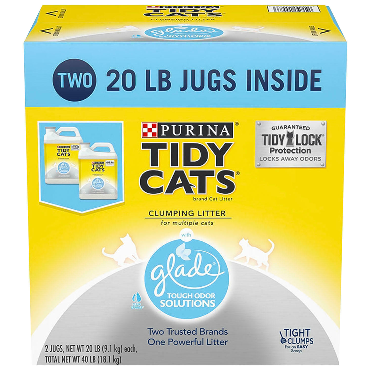 Purina Tidy Cats Clumping Litter with Glade Twin Odor Solution Pack (20 lb.) - $32.74