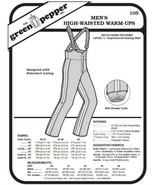 Men's High-waisted Warm-ups Snow Pants  #105 Sewing Pattern (Pattern Only) - $6.00