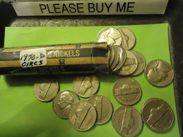 1970-D Jefferson Nickel Circs Roll >> C/S & H - $4.26