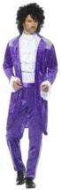 Smiffys 80s Purple Musician Prince Rain Velvet Adult Halloween Costume 4... - $56.32