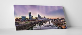 """Nashville Night Panoramic Gallery Wrapped Canvas Print. 45""""x16"""" or 30""""x16"""" - $52.66+"""