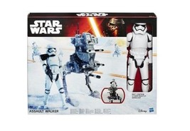 Star Wars The Force Awakens 12-Inch Assault Walker & Riot Control Stormt... - $29.69