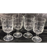 4 Anchor Hocking Tartan Goblets Footed Tumblers Iced Tea Water    - $19.34
