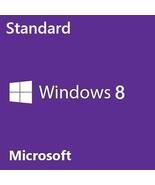 Windows 8 Standard 32/64-Bit Full Retail Official Full Edition Lifetime - $18.39