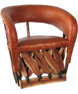 "Mexican Equipal Armchair ""Florida"" - $550.00"