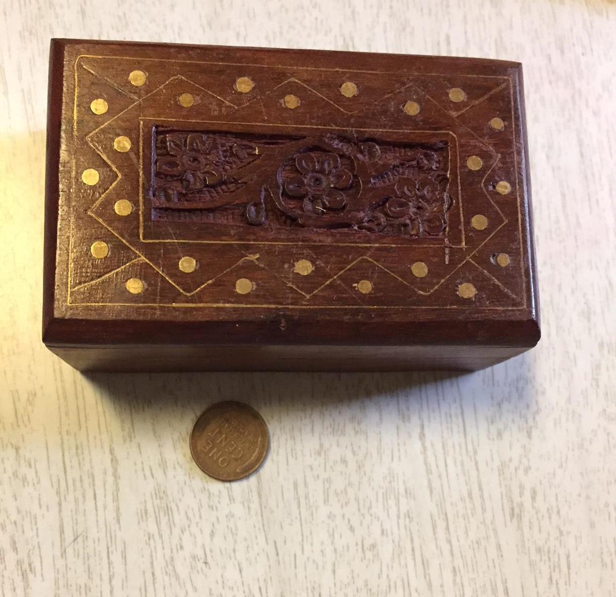 wood dice set in decorative wood box farkle haversack stuffer set number 4