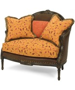 New Settee Settee Reproduction Reproduction Wood Leather - $4,849.00