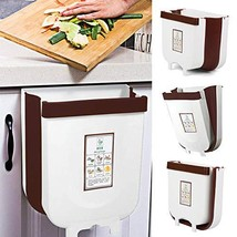 Vapeart Hanging Trash Can for Kitchen Cabinet Door, Collapsible Trash Bin Small