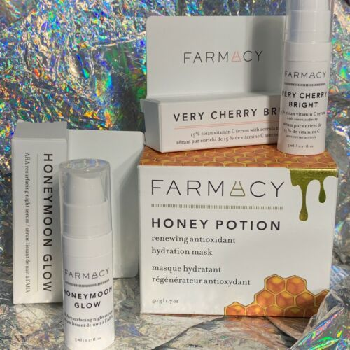NIB FARMACY Set With Honey Potion Renewal Antioxidant Hydration Mask Full Size