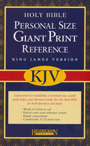 KJV Personal Reference Bible, Giant Print, Imitation Leather/Black - $25.00