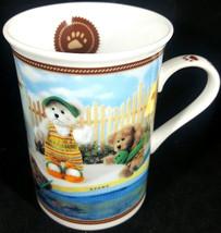 Danbury Mint Boyds Bear Teddy Bear Collector Mug Coffee Cup Gone Swimmin - $9.89