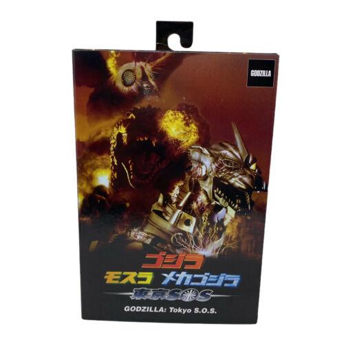 "NECA Hyper Master Blast Godzilla Tokyo SOS 6"" Action Figure 12"" Long 2003 Kaiju - $48.49"