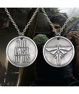 The Last Of Us New Movie Firefly Necklace Vintage Silver Necklaces Round... - $8.24
