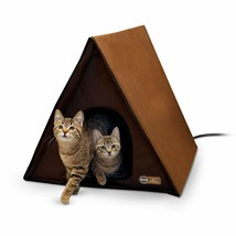 Large Warming Heated Cat Condo House Outdoor Multiple Cats Heater Shelte... - $123.29