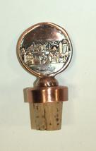 Judaica Bottle Stopper Jerusalem Old City Relief Israel Amulet Charm Copper image 3