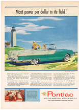 Vintage 1955 Magazine Ad Pontiac Most Power Per Dollar In Its Field - $5.93