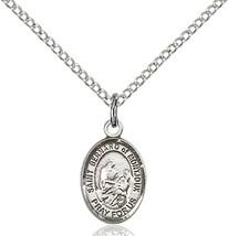Sterling Silver St. Bernard of Montjoux Pendant 1/2 x 1/4 18 inch Chain - $48.51