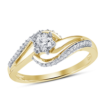 14k Yellow Gold Over 925 Sterling Silver Womens Wedding Diamond Engagement Ring - $71.99