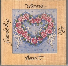 Stamps Happen Rubber Stamp #50039,  Friendship Warms the Heart  S15 - $7.85