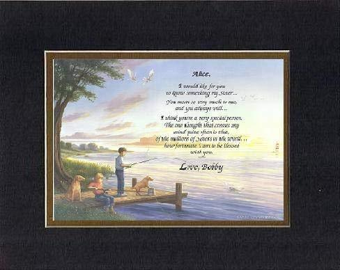 Personalized Touching and Heartfelt Poem for Sisters - I am Blessed to Have You  - $22.72