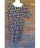 Lularoe 3XL Dress Short Sleeve Stretch Shift Geometric Print Comfortable... - $19.60