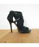 36 / 6 - Camilla Skovgaard Black Suede High Heel Open Toe Strappy Pumps ... - $75.00