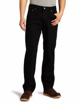 New Levi's Strauss 550 Men's Relaxed Fit Straight Leg Jeans Pants Black 550-0260