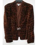 Vintage Peter Nygard Leopard Animal Print Rhinestone Closure Blazer Jacket - $29.69