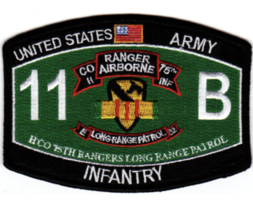 "4.5"" Army 75tTH Ranger Regiment Long Range Patrol Embroidered Patch - $23.74"