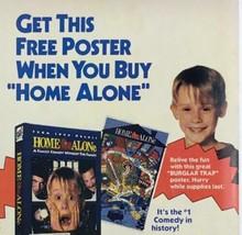 Circa 1991 HOME ALONE Macaulay Culkin PEPSI VHS Free Poster Offer Print Ad - $9.22