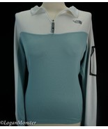 The North Face L Light Blue Technical Fitness Long Sleeve Zipper Sleeve ... - $15.00