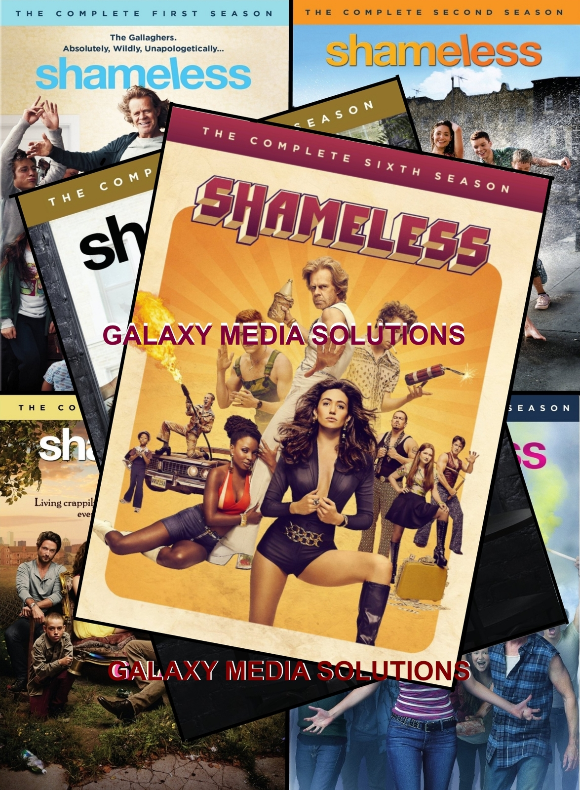Shameless season one six 1 6 dvd bundle  9 disc  2011 2015  1 2 3 4 5 6 comedy ghallagers