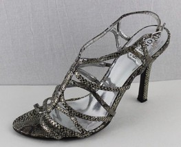 Guess by Marciano Goally women's sandals scrappy animal skin gray stilettos 9M - $20.20