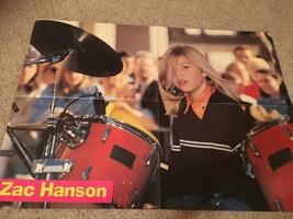 Isaac Hanson Zac Hanson teen magazine poster clipping Today Show 90's