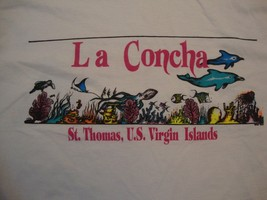 Vintage La Concha St. Thomas U.S Virgin Islands Souvenir White T Shirt Size 2XL - $17.81