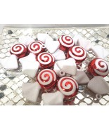 Christmas Holiday Red White Candy Cane Peppermint Ornaments Decor Set of 8 - $17.99