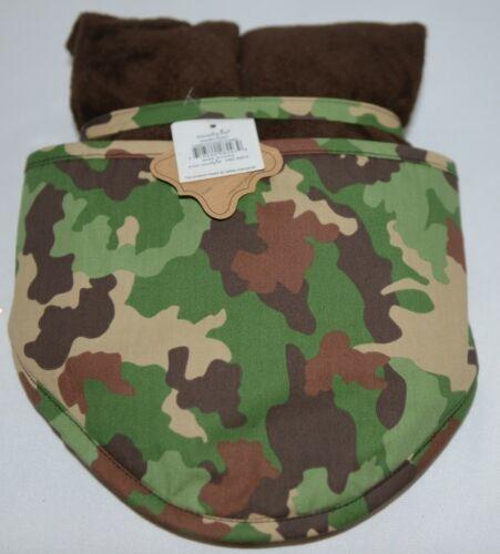 Mudpie HSZ 30514 Baby Green Brown Camo Hooded Towel 100 Precent Cotton