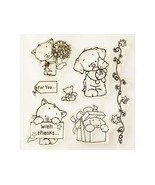 Clear Stamps Cute Pets and Sentiments Clear Stamps, Set of 7 - $11.99