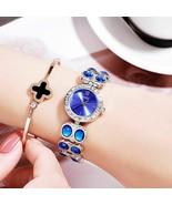Womens Rose Gold Watches Luxury Diamond Mesh Quartz Stainless Steel Wris... - $24.99