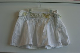 !iT Girls White Skirt with belt Size 8 100% Cotton Nordstorm - $7.91