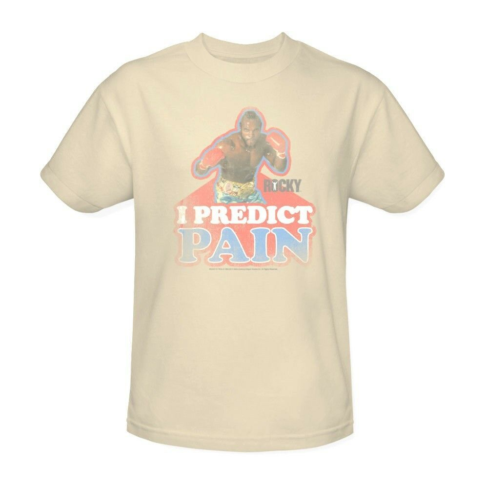 Mr. T T-shirt I predict pain clubber lang retro Rocky 80s movie tee MGM114
