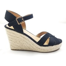 American Eagle Womens Wedge Espadrilles Sandals Black Size 9 - $16.39
