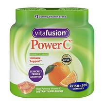 Vitafusion Power C, Gummy MsXeQF Vitamins for Adults, 150 Count Pack of 2