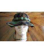 US ARMY GI WOODLAND BDU RIPSTOP CAMO COMBAT FLOPPY HAT BOONIE CAP SIZE 7... - $24.74