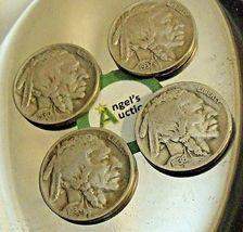 Buffalo Nickel 1930 P, 1934 D, 1936 P and 1937 P AA20BN-CN6099 image 10