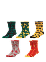 Justice League The Flash Aquaman Batman Dc Comics 5 Pack Casual Crew Socks - $22.95